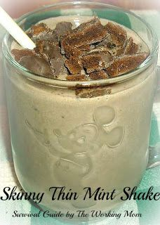 "Skinny ""Girl Scout Cookie"" Thin Mint Shake"