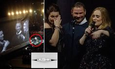 Adele invites couple on stage after he proposes in the audience