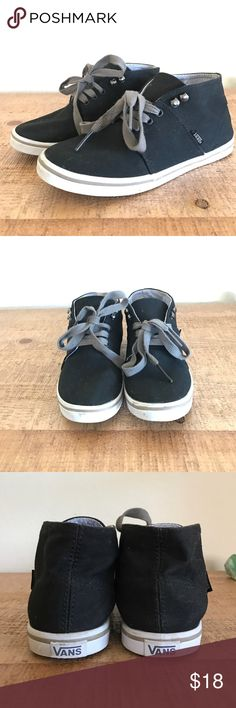 Vans High Top Sneakers Used a couple times. Size 5. In excellent condition. They still smell like new! Vans Shoes Sneakers