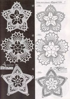 Captivating All About Crochet Ideas. Awe Inspiring All About Crochet Ideas. Crochet Snowflake Pattern, Crochet Motif Patterns, Crochet Stars, Crochet Snowflakes, Crochet Flowers, Crochet Doilies, Crochet Lace, Russian Crochet, Irish Crochet