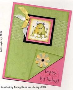 Unfrogettable Stampin Up Set - Different Fold