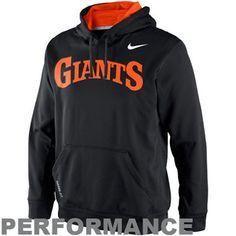 Nike San Francisco Giants Cooperstown KO Performance Pullover Fleece Hoodie - Black