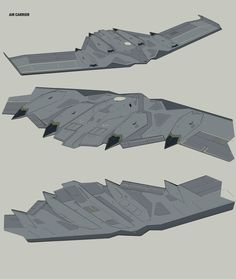 I wanted to figure out how a flying carrier would handle receiving, storing and sending off planes, this is what I came up with. Spaceship Art, Spaceship Concept, Concept Ships, Concept Art, Uav Drone, Drones, Flying Vehicles, Future Weapons, Sci Fi Ships