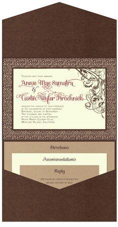 Pocket invitation landscape