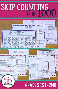 Second grade teachers, if your students need extra math practice with skip counting to 1,000, then this is just what you need.
