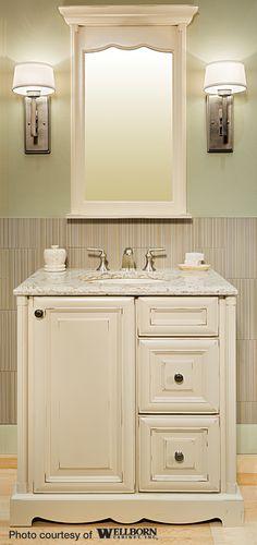 Cherry Bathroom Cabinetry By Wellborn Cabinet. Www.wellborn.com