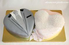 Торт Два сердца, 5,3кг - фото 544086 Oksuta-tort - свадебные торты