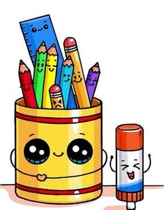 How to draw a cute pencil box and how to draw … – Kawaii – # pencil box # cute - New Sites Kawaii Girl Drawings, Cute Food Drawings, Cute Little Drawings, Cute Animal Drawings, Disney Drawings, Cartoon Drawings, Cartoon Illustrations, Doodles Kawaii, Cute Doodles