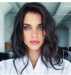 Dark hair blue eyes