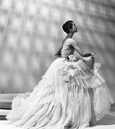 1950 Mary Jane Russell in gown by Dior, photo by Louise Dahl-Wolfe