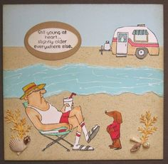 his and hers campers stamp - Google Search