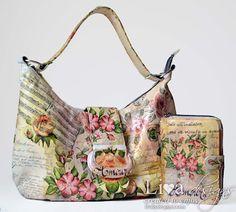 Livas crafts: Decoupaged Bag - 1st Video Tutorial
