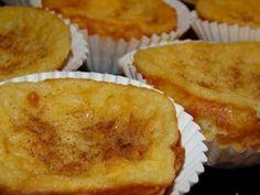 Receita Sobremesa : Queijadinhas de leite de Sonia meirinho Portuguese Desserts, Portuguese Recipes, Biscuits, Muffins, Cheesecake, Food And Drink, Menu, Pie, Cupcakes