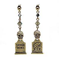 Night in the Graveyard Earrings tutorial