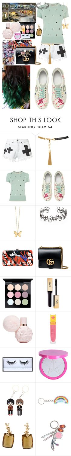 """""""Jimin's birthday part 2"""" by mikupayneluvs1d ❤ liked on Polyvore featuring Bitching & Junkfood, Yves Saint Laurent, Oasis, RED Valentino, Sydney Evan, Acne Studios, Gucci, MAC Cosmetics, Jeffree Star and Huda Beauty"""