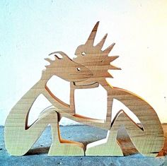 """sculpture bois chantourné hêtre """"couple""""  : Accessoires de maison par 2virgule5d"""