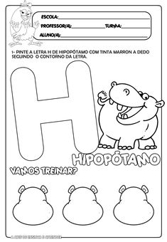Resultado de imagem para atividades com a letra h para educação infantil