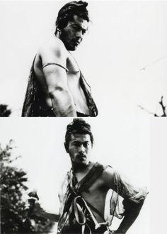 Toshirō Mifune on the set of Rashōmon/羅生門 (Akira Kurosawa - 1950)