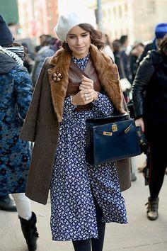 miroslava duma at nyc fashion week