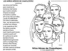Dibujos de los Niños Héroes para colorear Mexico
