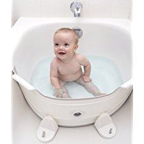 BabyDam Bathtub Divider - Turns A Standard Porcelain Tub Into Your Baby's Tub (NOT COMPATIBLE WITH ALL TUBS READ LISTING ) - GreyWhite - U.S. Size