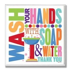 nice The Stupell Home Decor Collection Wash with Soap and Water Colorful Bath Wall Plaque Bathroom Colors, Bathroom Wall, Colorful Bathroom, Bathroom Ideas, School Bathroom, Kid Bathrooms, Bathroom Storage, Box Frames, Frames On Wall