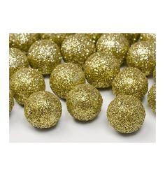 Dekoracje brokatowe Kula, złoty, 2cm, 1op.