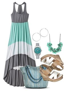 Mint Green Summer Fashion for Women! I would change the shoes for something more delicate.