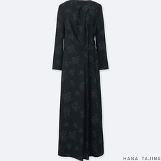 WOMEN PRINTED TUCK LONG-SLEEVE LONG DRESS | UNIQLO US