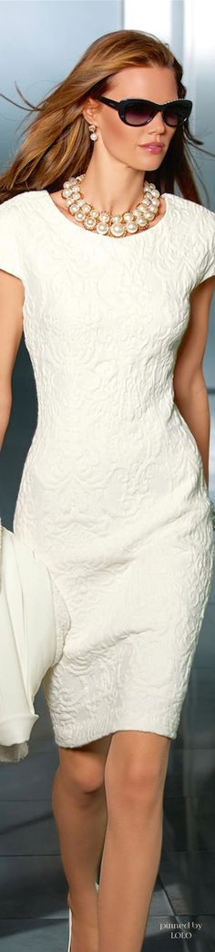 Pretty white dress. Dressing for My Life by Patti Montgomery