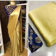 COD Available | Free Return & Full Refund Satin Solid Sarees With Contrast Blouse Piece link in bio Price: ₹350 Feel free to call us on +91-7999219541 if you need any help with ordering online. Thank you. #satinsaree #myracollection #silksarees #sarees #cottonsaree #sareelove Satin Saree, Soft Silk Sarees, Cotton Saree, Silk Satin, Blue Satin, Chiffon Saree, Elite Fashion, Brocade Blouses, Silk Saree Blouse Designs