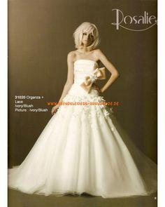 2013 Romantische elegante Brautkleider aus Satin mit Schleppe mit Schleife