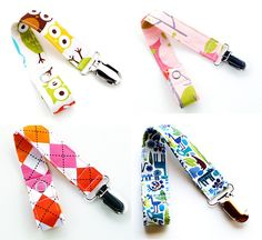 Handmade Fabric Pacifier Clips, micah stocking