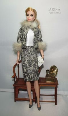 Handmade outfit for Vintage Barbie, Silkstone Barbie, Fashion Royalty OOAK doll