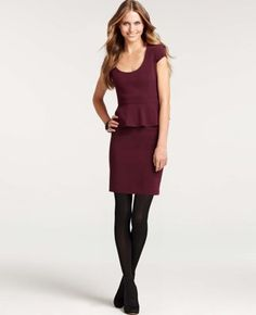 Peplum Cap Sleeve Dress