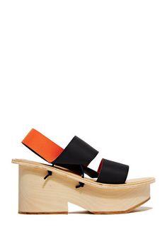 Fauvel Platform Pleat Sandals