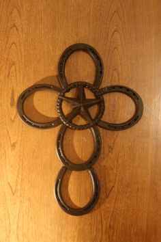 Lonestar Cross with Star center Rustic Decor Wall Art Your choice of color  $40.00