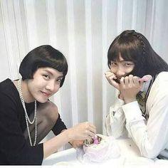 Two most beautiful women J-Hope and Namjoon. Seokjin, Kim Namjoon, Jung Hoseok, Foto Bts, Bts Photo, Jhope, Bts Suga, Taehyung, Bts Rap Monster
