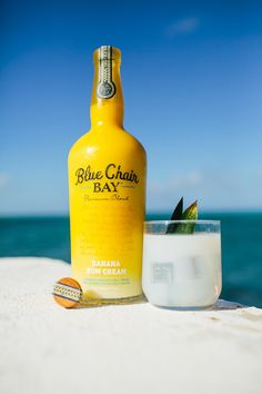 RIPTIDE // 2 oz. Blue Chair Bay Banana Rum Cream + 4 oz. coconut water // Pour ingredients over ice and stir. Garnish with a pineapple leaf if you feel the need.