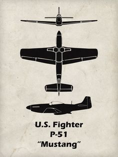 The P-51 Mustang is one of the most famous airplanes of WWII. Click here to check out our WWII spotter prints.