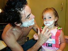 Patrick Monahan with his daughter. Love this picture!
