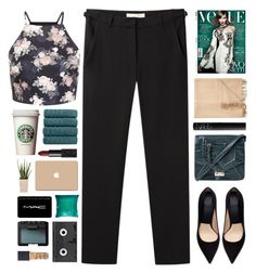Untitled #2031 by tacoxcat on Polyvore featuring Vanessa Bruno, Zara, Topshop, MAC Cosmetics, NARS Cosmetics, Armand Diradourian, Luckies, Kevin O'Brien and PLANT