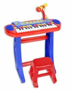 Bontempi Detské elektronické piano so stoličkou a mikrofónom 133240