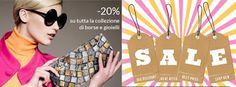 Time for #Sale!! Don't miss the #offer #20%OFF only on http://www.bi-bag.it/it/ #shoponline #bag #jewelry