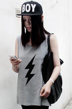 Flash Grey Sleeveless Shirt