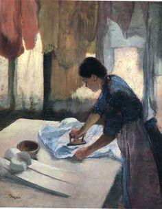 Woman Ironing, 1887, Edgar Degas