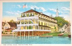 Now called The Crown & Anchor, the New Central Hotel was a popular Provincetown Inn in the 19th century.  www.reverehouse.com