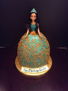 My latest creation. Princess Jasmine doll cake!!!