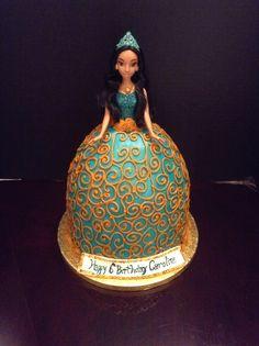 My latest creation. Princess Jasmine doll cake!!!