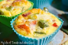 My Life of Travels and Adventures: Breakfast Omelet Muffins Protein Packed Breakfast, Breakfast Muffins, Breakfast Recipes, Breakfast Ideas, Free Breakfast, Brunch Recipes, Healthy Muffins, Healthy Eating Recipes, Cooking Recipes